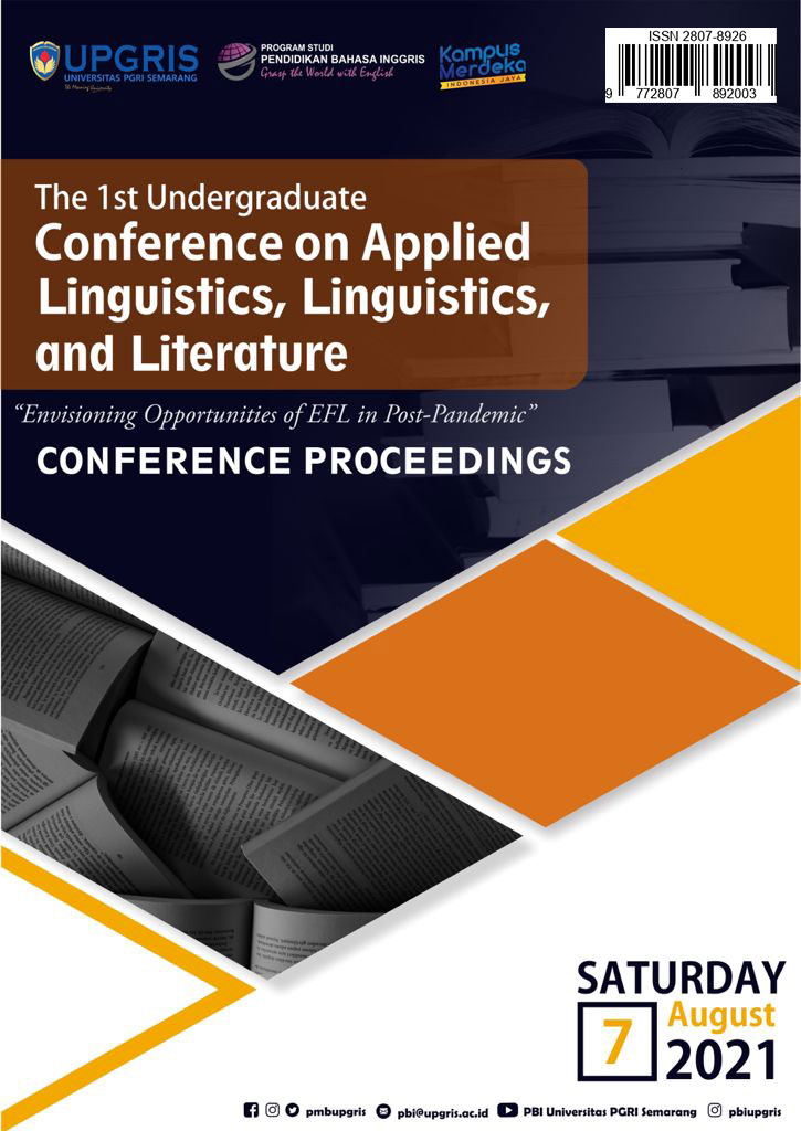 The title of this proceedings is taken from the theme of the 1st Undergraduate Conference on Applied Linguistics, Linguistics, and Literature conducted on 7 August 2021